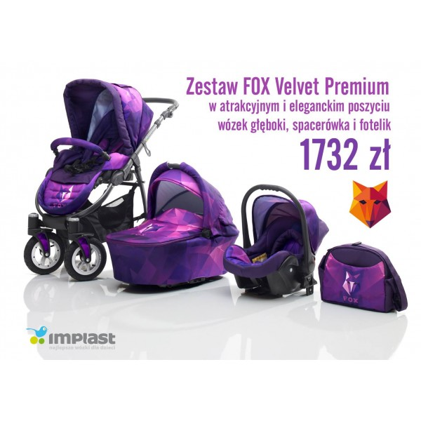 Wózek Fox Premium 3w1 IMPLAST